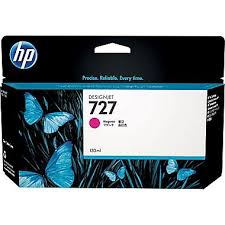 Mực in Phun màu B3P20A HP 727 130-ml Magenta Ink Cartridge HP 727 130-ml Magenta Ink Cartridge - Màu đỏ - Dùng cho HP T920